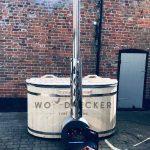 Woodpecker Ofuro fiber glass hot tub with external heater, hot tub, fiberglass tub, fiberglass hot tubs, hot tub with external heater, japanese bath, japanese tub, japanese ofuro bath