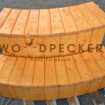 woodpecker rounded shape two tier step 1